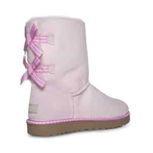 Ugg Bailey Bow Gingham Pink Boots